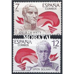 1978 Spain 2116/2117  America-Spain America **MNH Very Nice  (Scott)