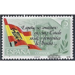 1978 Spain  Sc 2133 Spanish Constitution Constitution **MNH Very Nice, Mint Hever Hinged?  (Scott)