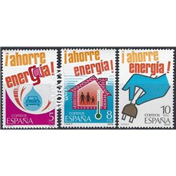 1979 Espagne 2154/2156  Économies d'énergie  **MNH TTB Très Beau  (Yvert&Tellier)