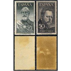 1953 Spanien 1019/1020  Legazpi / Sorolla Persönlichkeiten * Falz Guter Zustand  (Michel)