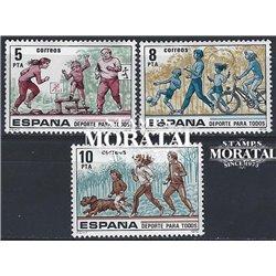 1979 Espagne 2162/2164  Sport pour tous Sportif **MNH TTB Très Beau  (Yvert&Tellier)