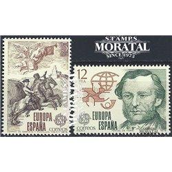 1979 Espagne 2166/2167  L'Europe Europe **MNH TTB Très Beau  (Yvert&Tellier)