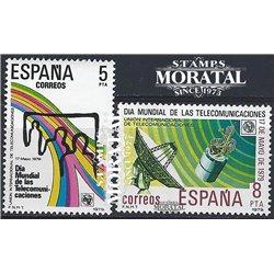 1979 Spanien 2414/2415  Telekommunikation Amtlichen Stellen ** Perfekter Zustand  (Michel)