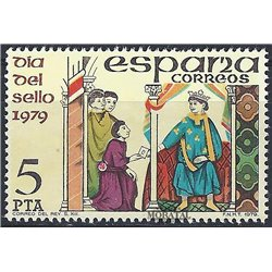 1979 Spanien 2418 Tag der Briefmarke Philatelie ** Perfekter Zustand  (Michel)