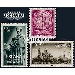 1953 Spanien 1021/1023  Universität Kloster-Tourismus ** Perfekter Zustand  (Michel)