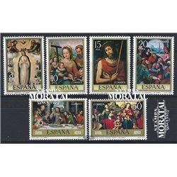 1979 Espagne 2183/2188  Juan de Juanes Peinture **MNH TTB Très Beau  (Yvert&Tellier)