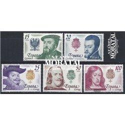 1979 Espagne 2198/2202  Kings. Autriche Rois **MNH TTB Très Beau  (Yvert&Tellier)