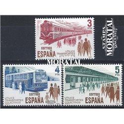 1980 Spanien 2452/2454  Verkehr  ** Perfekter Zustand  (Michel)