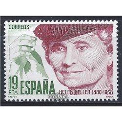 1980 Spanien 2466 Helen Keller Persönlichkeiten ** Perfekter Zustand  (Michel)