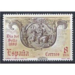 1980 Espagne 2221 Journée du timbre Philatélie **MNH TTB Très Beau  (Yvert&Tellier)