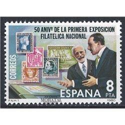 1980 Spanien 2468 Briefmarkenausstellung Ausstellung ** Perfekter Zustand  (Michel)