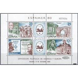 1980 Spanien Block21 Block-Espamer 80 Ausstellung ** Perfekter Zustand  (Michel)