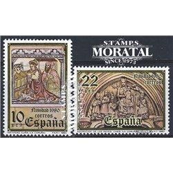 1980 Espagne 2227/2228  Noël Noël **MNH TTB Très Beau  (Yvert&Tellier)