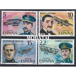 1980 Espagne 2229/2232  Pionniers de l'aviation Avion **MNH TTB Très Beau  (Yvert&Tellier)