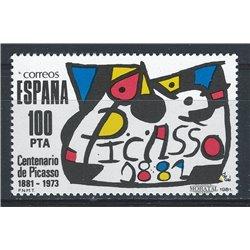 1981 Spanien 2493 Picasso Gemälde ** Perfekter Zustand  (Michel)