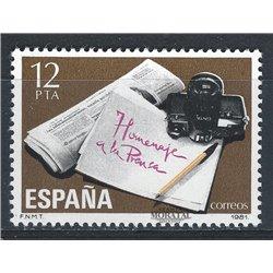 1981 Spanien 2494 Presse  ** Perfekter Zustand  (Michel)