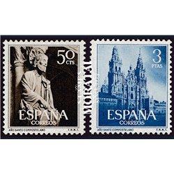 1954 España 1130/1131 Año Santo Monaterios-Turismo **MNH Perfecto Estado  (Edifil)