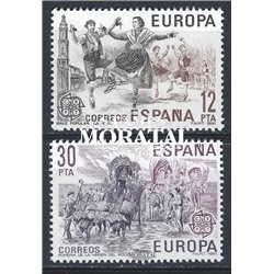 1981 Spanien 2498/2499  Europa Europa ** Perfekter Zustand  (Michel)