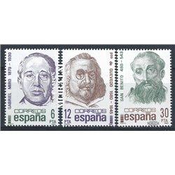 1981 Espagne 2247/2249  Centenaires Personnalités **MNH TTB Très Beau  (Yvert&Tellier)