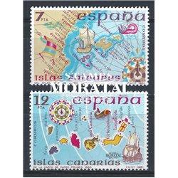 1981 Espagne 2250/2251  L'île Espagne  **MNH TTB Très Beau  (Yvert&Tellier)