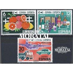 1981 Espagne 2254/2256  Elle exporte  **MNH TTB Très Beau  (Yvert&Tellier)