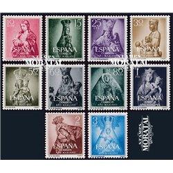 1954 Espagne 843/852  Année Mariale Peinture **MNH TTB Très Beau  (Yvert&Tellier)