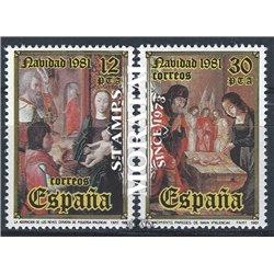 1981 Spanien 2522/2523  Weihnachten Weihnachten ** Perfekter Zustand  (Michel)