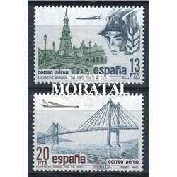 1981 Spanien 2524/2525  Luftpost Philatelie ** Perfekter Zustand  (Michel)