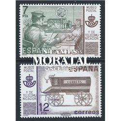 1981 Espagne 2268/2269  Musée de la poste Philatélie **MNH TTB Très Beau  (Yvert&Tellier)