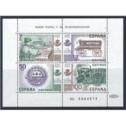 1981 Spanien Block24 Block-Postmuseum Amtlichen Stellen ** Perfekter Zustand  (Michel)