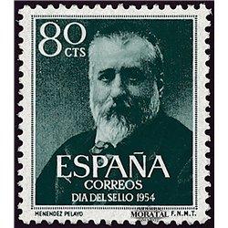 1954 Spanien 1038  Menéndez Persönlichkeiten ** Perfekter Zustand  (Michel)