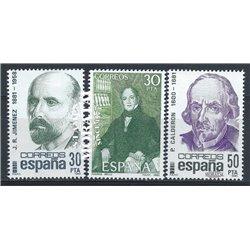 1982 Espagne 2275/2276  Centenaires Personnalités **MNH TTB Très Beau  (Yvert&Tellier)