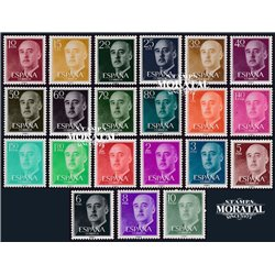 1955 Spanien 1040/1055  General Franco Serie Gene ** Perfekter Zustand  (Michel)