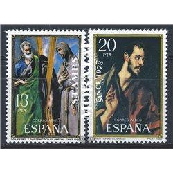 1982 Spanien 2552/2553  Greco Gemälde ** Perfekter Zustand  (Michel)