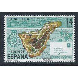 1982 Spanien 2554 Tag der Briefmarke Philatelie ** Perfekter Zustand  (Michel)