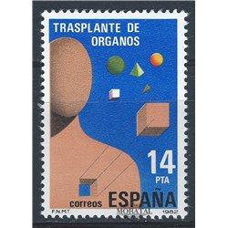 1982 Espagne 2291 Greffes Médecine **MNH TTB Très Beau  (Yvert&Tellier)