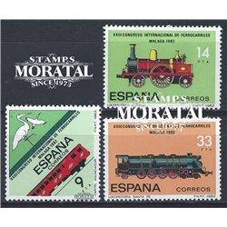 1982 Espagne 2292/2294  Chemin de fer Chemin de fer **MNH TTB Très Beau  (Yvert&Tellier)