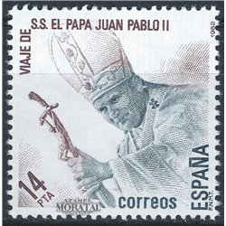 1982 Espagne 2297 Visitez le pape Religieux **MNH TTB Très Beau  (Yvert&Tellier)
