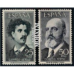 1955 Spanien 1070/1056  Fortuny / Torres Quevedo Persönlichkeiten ** Perfekter Zustand  (Michel)