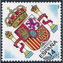1983 Espagne 2307 Coat of arms Armoiries **MNH TTB Très Beau  (Yvert&Tellier)