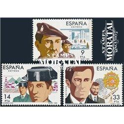 1983 Spanien 2574/2576  Polizei Militär ** Perfekter Zustand  (Michel)