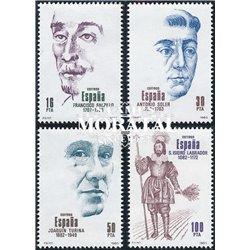 1983 Spanien 2587/2590  Hundertjährigen Persönlichkeiten ** Perfekter Zustand  (Michel)