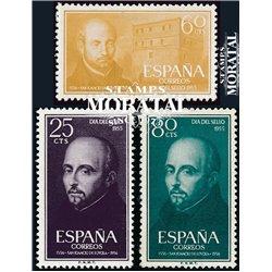 1955 Espagne 870/872  Ignatius de Loyola Religieux **MNH TTB Très Beau  (Yvert&Tellier)