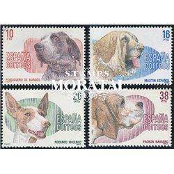 1983 Espagne 2328/2331  Chiens Faune **MNH TTB Très Beau  (Yvert&Tellier)