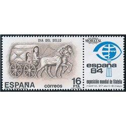 1983 Spanien 2604 Tag der Briefmarke Philatelie ** Perfekter Zustand  (Michel)