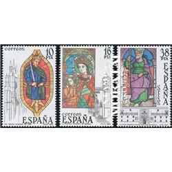 1983 Spanien 2607/2609  Glasmalerei Handwerk ** Perfekter Zustand  (Michel)
