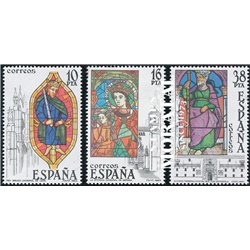 1983 Espagne 2341/2343  Verre souillé Artisanats **MNH TTB Très Beau  (Yvert&Tellier)