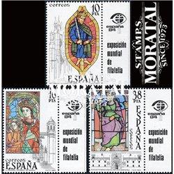 1983 Spanien 0 Bandeleta-Glasmalerei Handwerk ** Perfekter Zustand  (Michel)