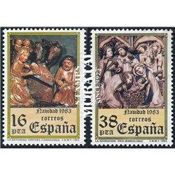 1983 Spanien 2615/2616  Weihnachten Weihnachten ** Perfekter Zustand  (Michel)