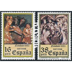 1983 Espagne 2349/2350  Noël Noël **MNH TTB Très Beau  (Yvert&Tellier)